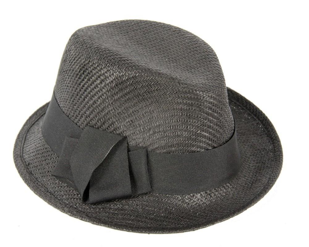 Black trilby ladies hat