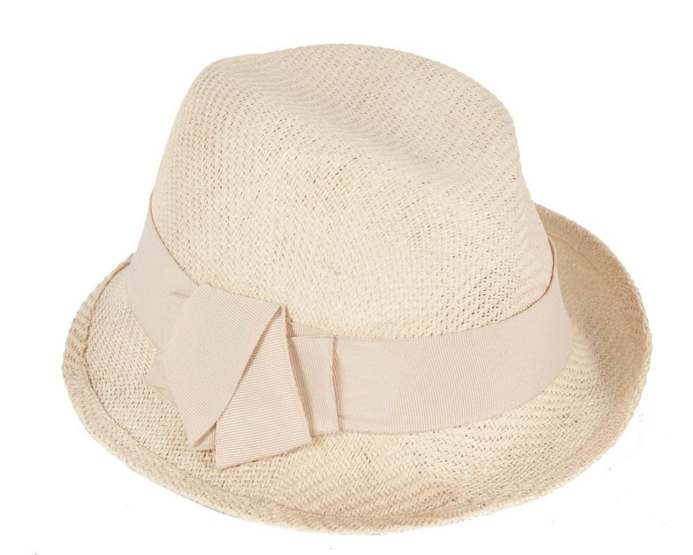 Natural trilby ladies hat