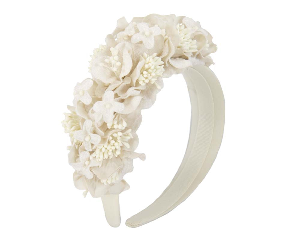 Cream flower headband racing fascinator