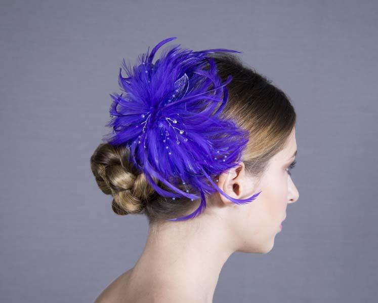 Custom made feather fascinator headpiece