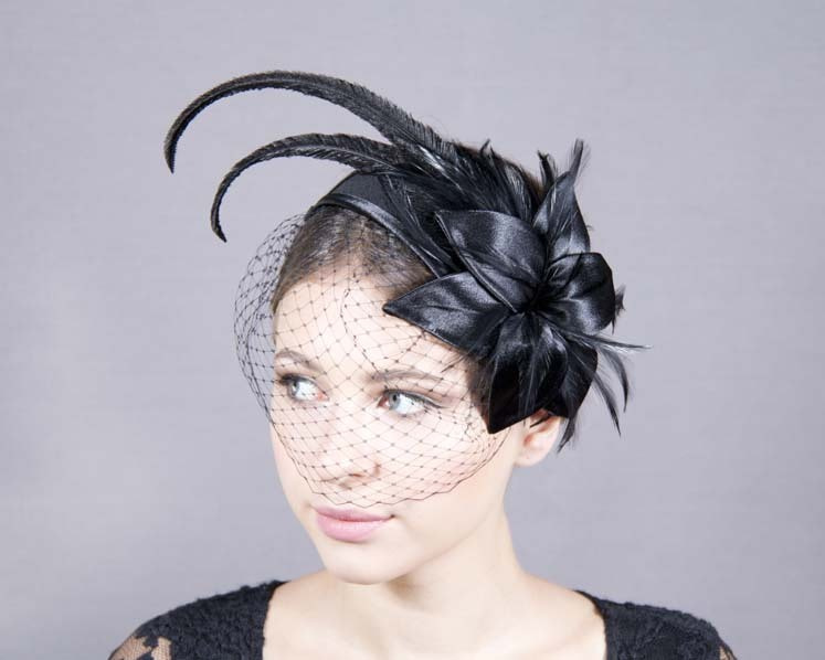 Custom Made Cocktail Hat Fascinator with veiling