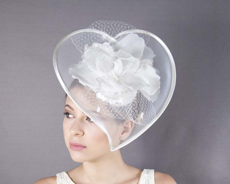 Custom made heart-shaped cocktail hat