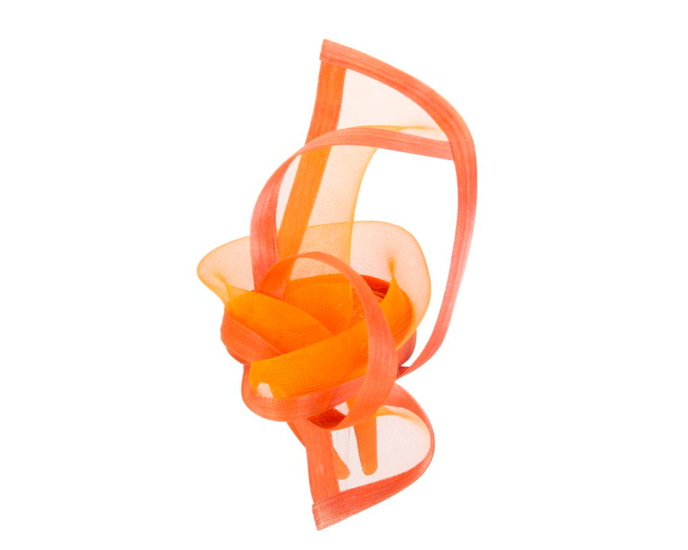 Orange fascinator for Melbourne Cup Ascot Kentucky Derby buy online S107O