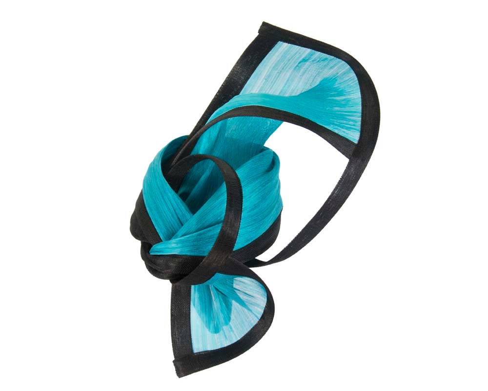 Exclusive black & turquoise tall fascinator for Melbourne Cup races S159BT