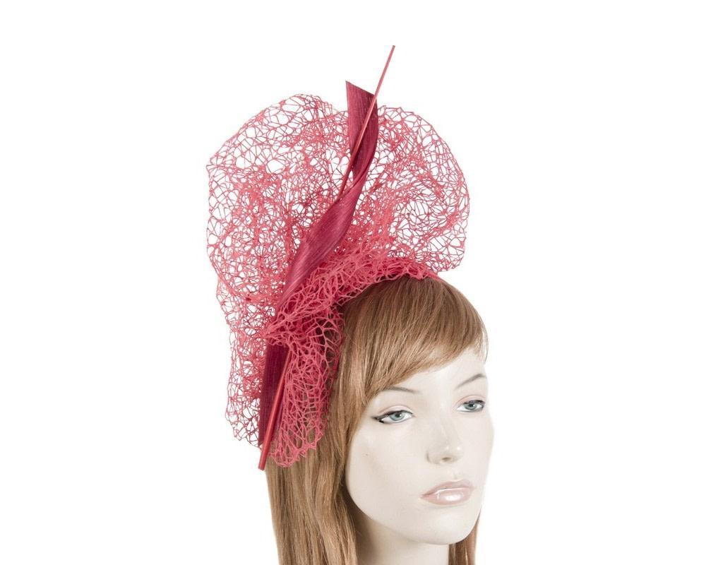 Bespoke red lace fascinator