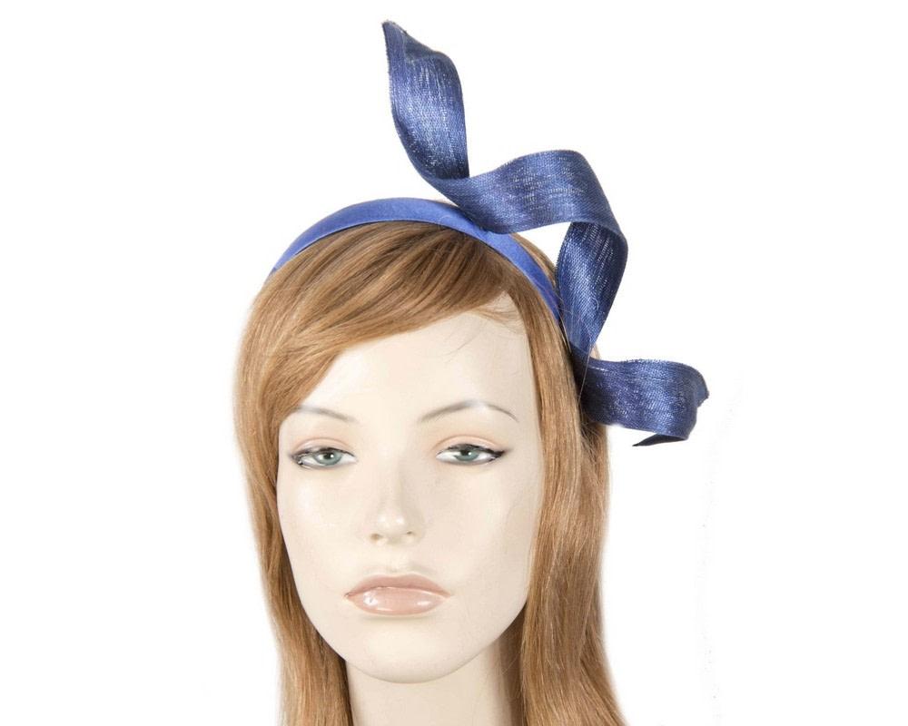 Royal blue twist fascinator headband