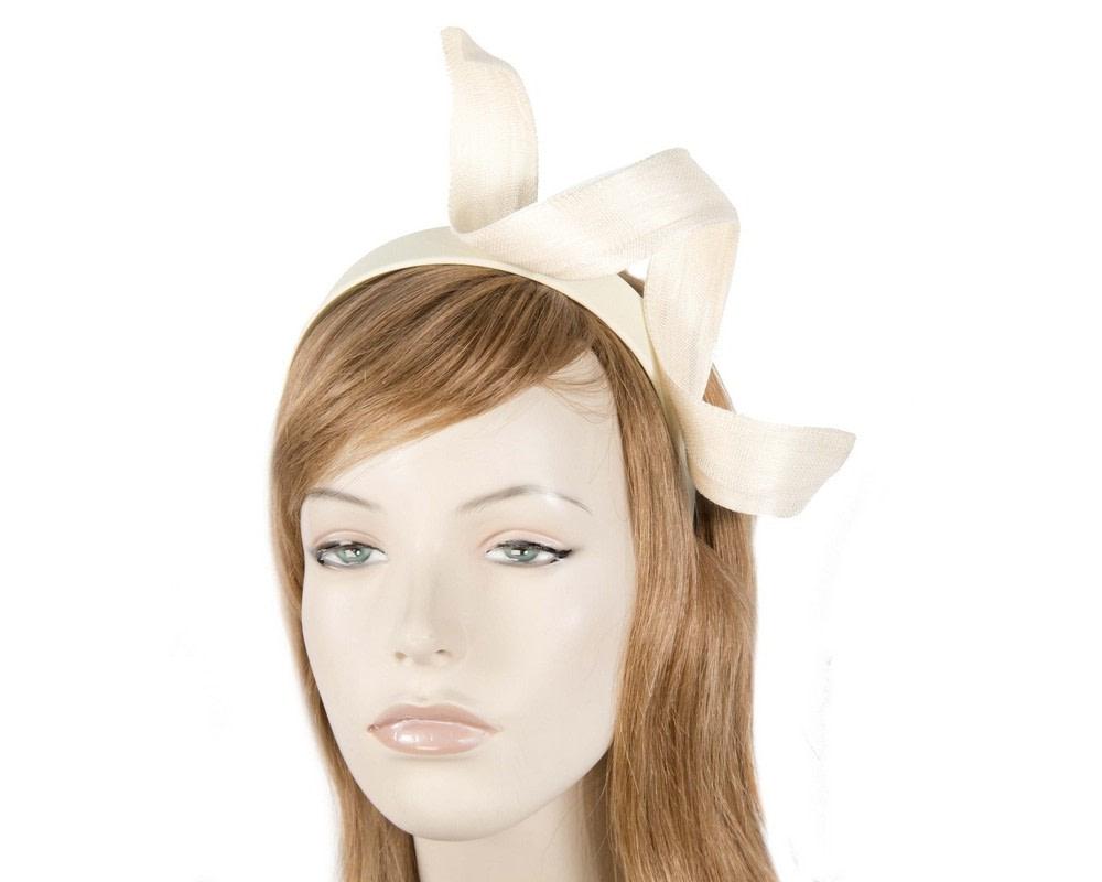 Cream twist fascinator headband