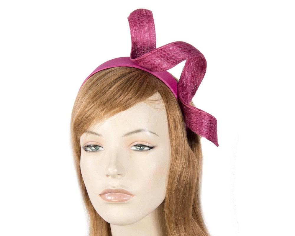 Fuchsia twist fascinator headband