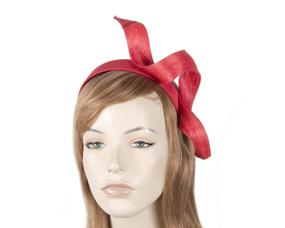 Red twist fascinator headband