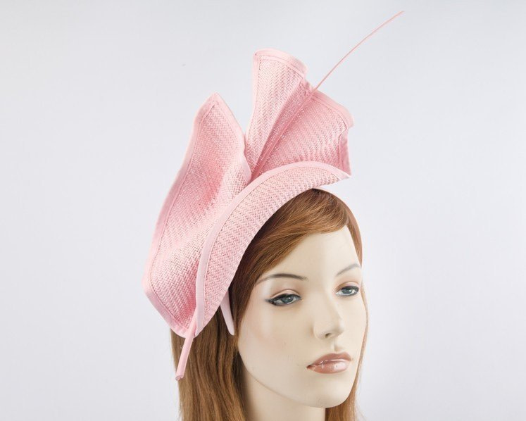 Bright soft pink Max Alexander racing fascinator made in Australia MA686SP