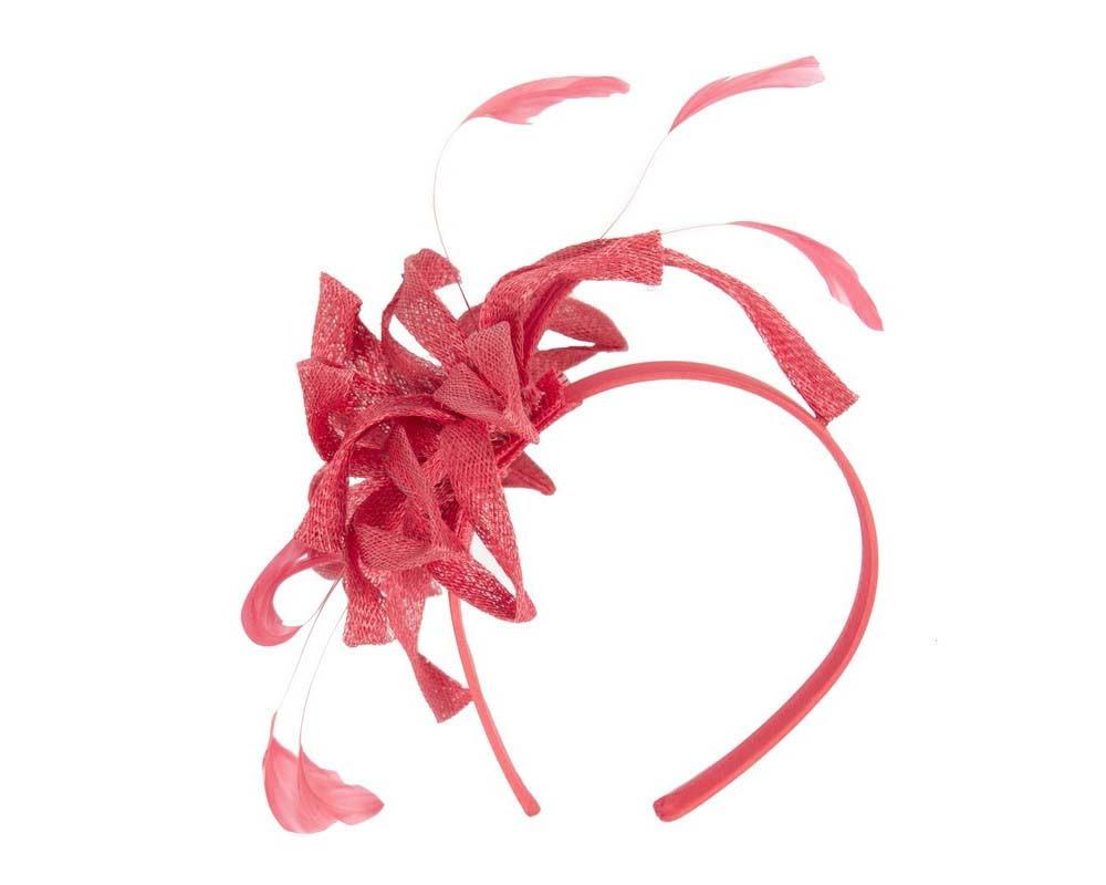 Flamboyant red fascinator