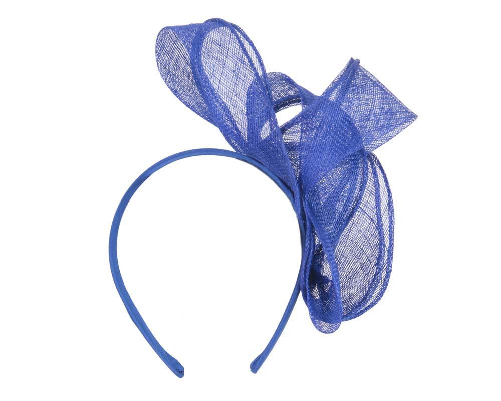 Pleated royal blue fascinator