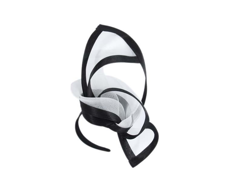 Black & white edgy racing fascinator by Fillies Collection