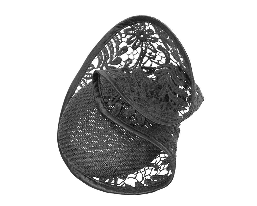 Black lace fascinator