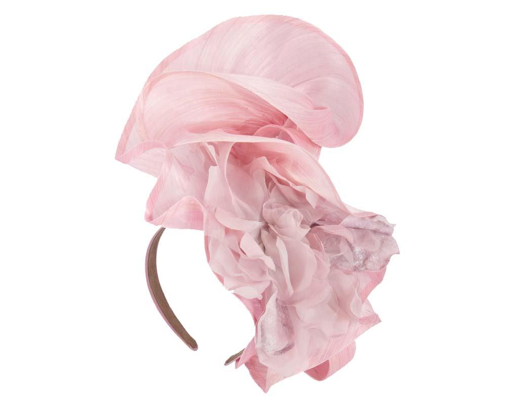 Bespoke large pink fascinator