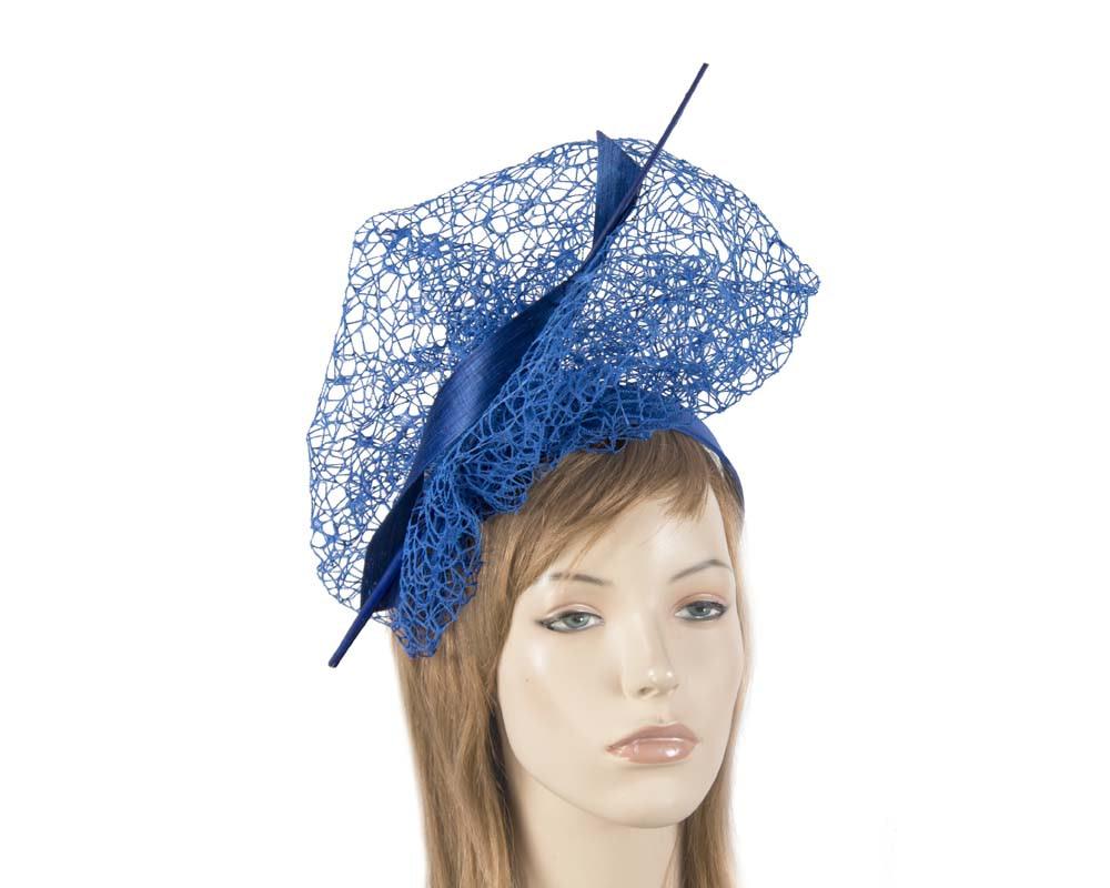 Bespoke royal blue lace fascinator
