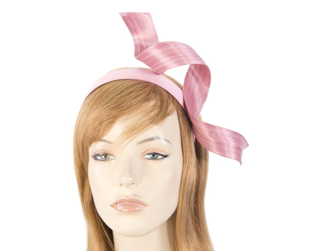 Dusty pink twist fascinator headband