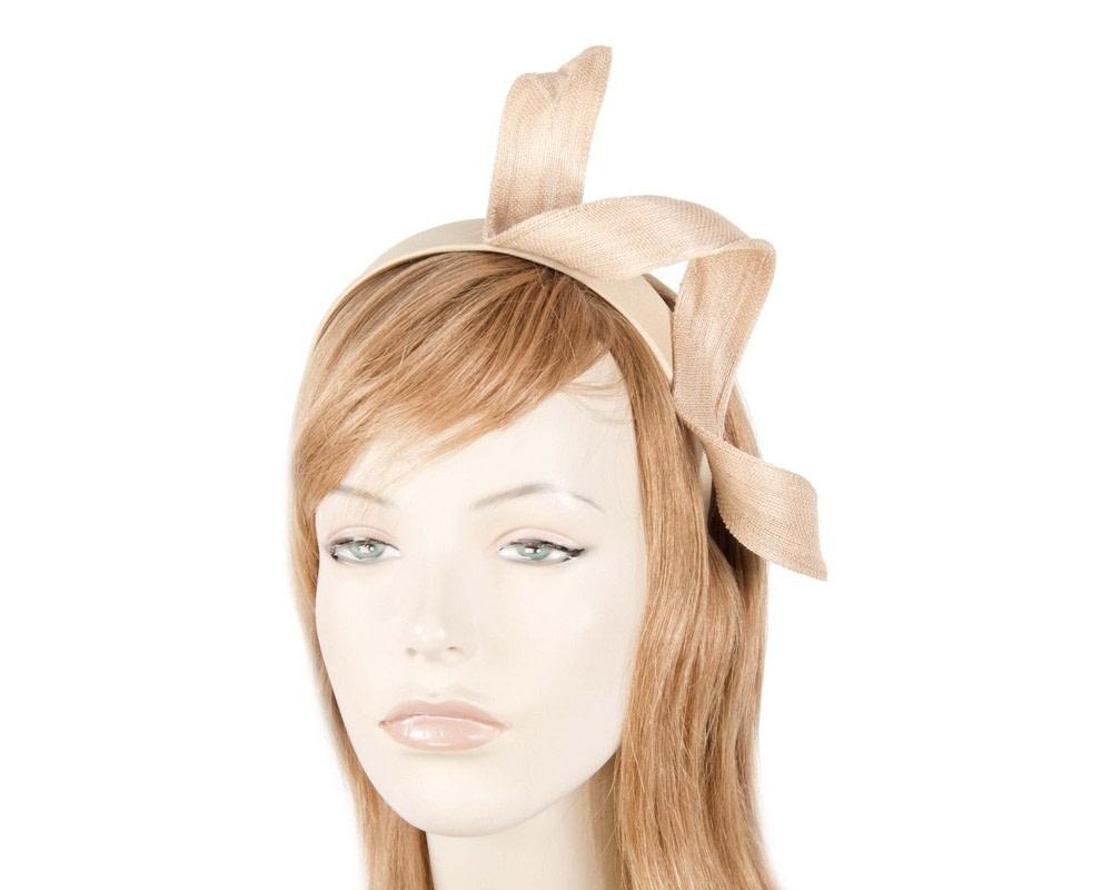 Nude twist fascinator headband
