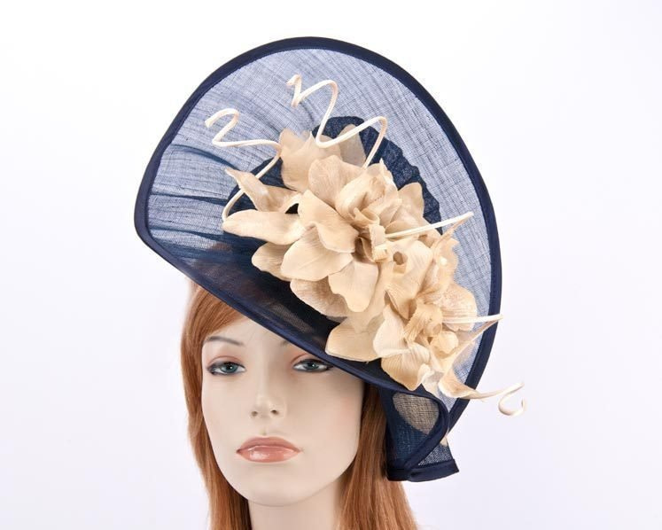 Navy gold ladies fashion hat for Melbourne Cup Ascot Derby races buy online in Aus S970NG