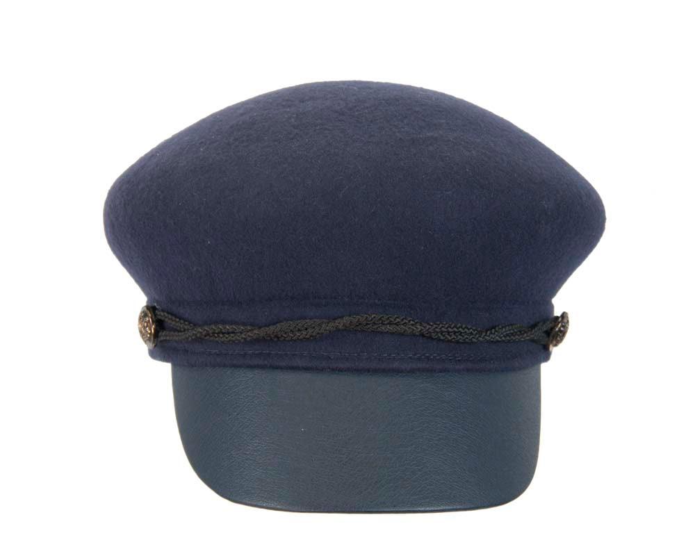 Modern navy ladies felt cap hat