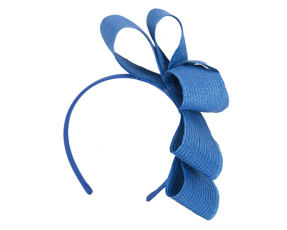 Royal blue bow fascinator by Max Alexander