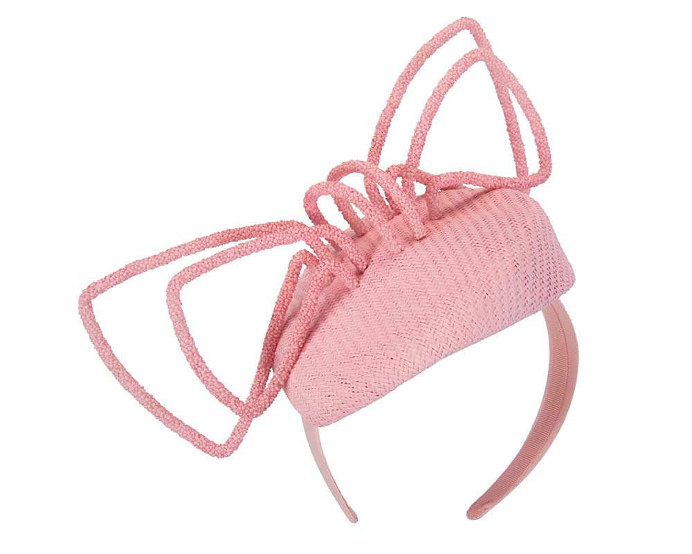 Pink designers racing fascinator by Fillies Collection