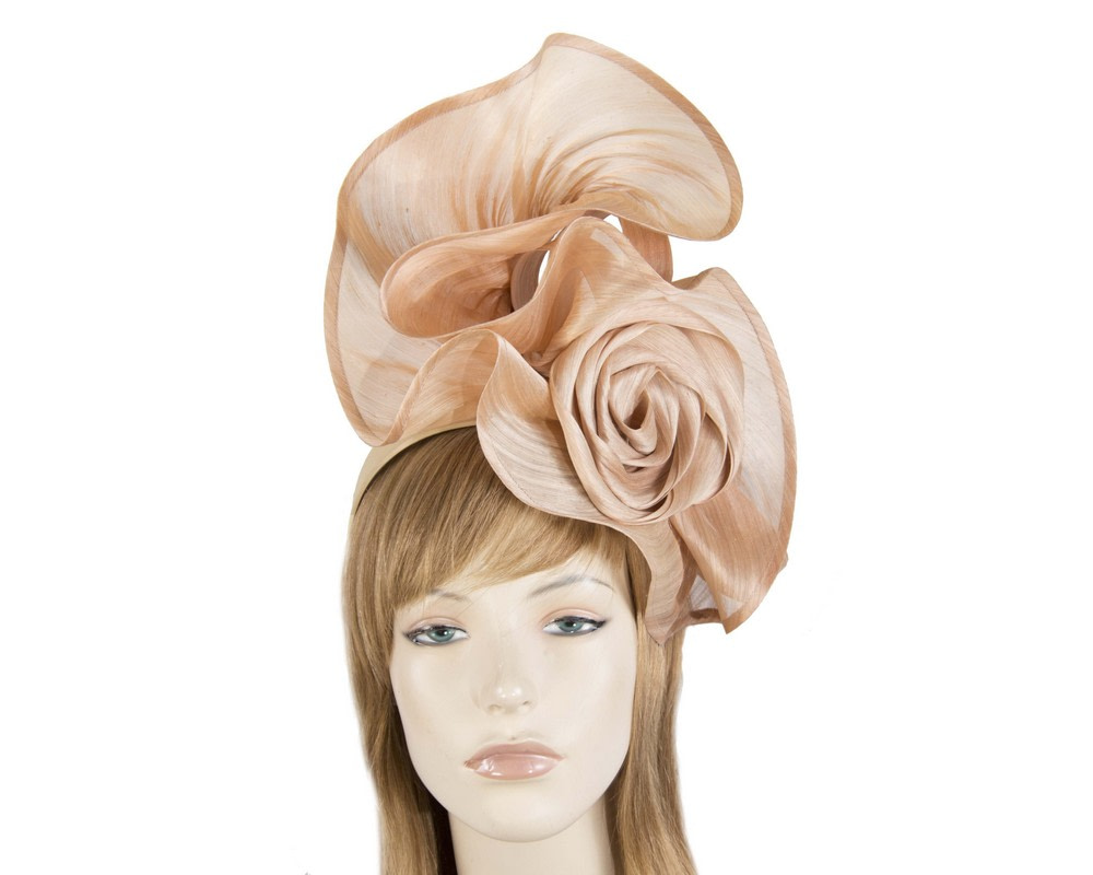Twisted nude designers fascinator by Fillies Collection
