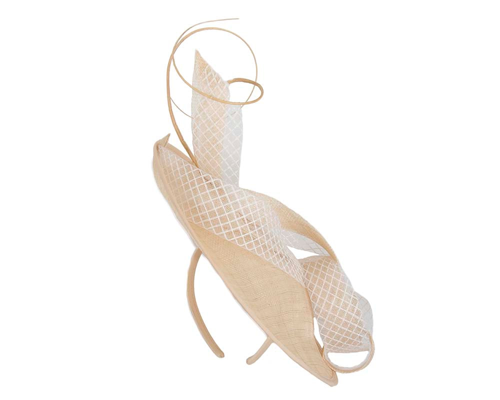 Large nude plate fascinator by Max Alexander