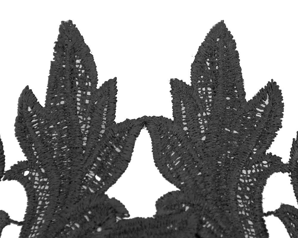 Black lace crown fascinator headband by Max Alexander