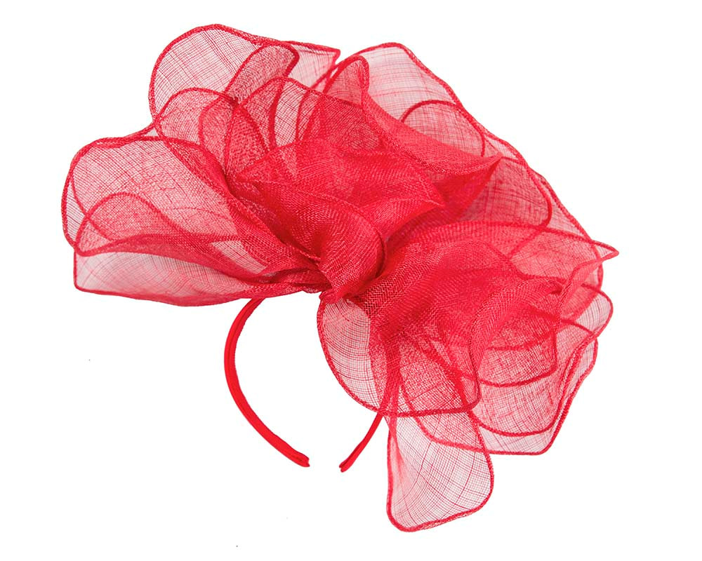 Large red racing fascinator for Melbourne Cup Derby buy online in Australia MA630R