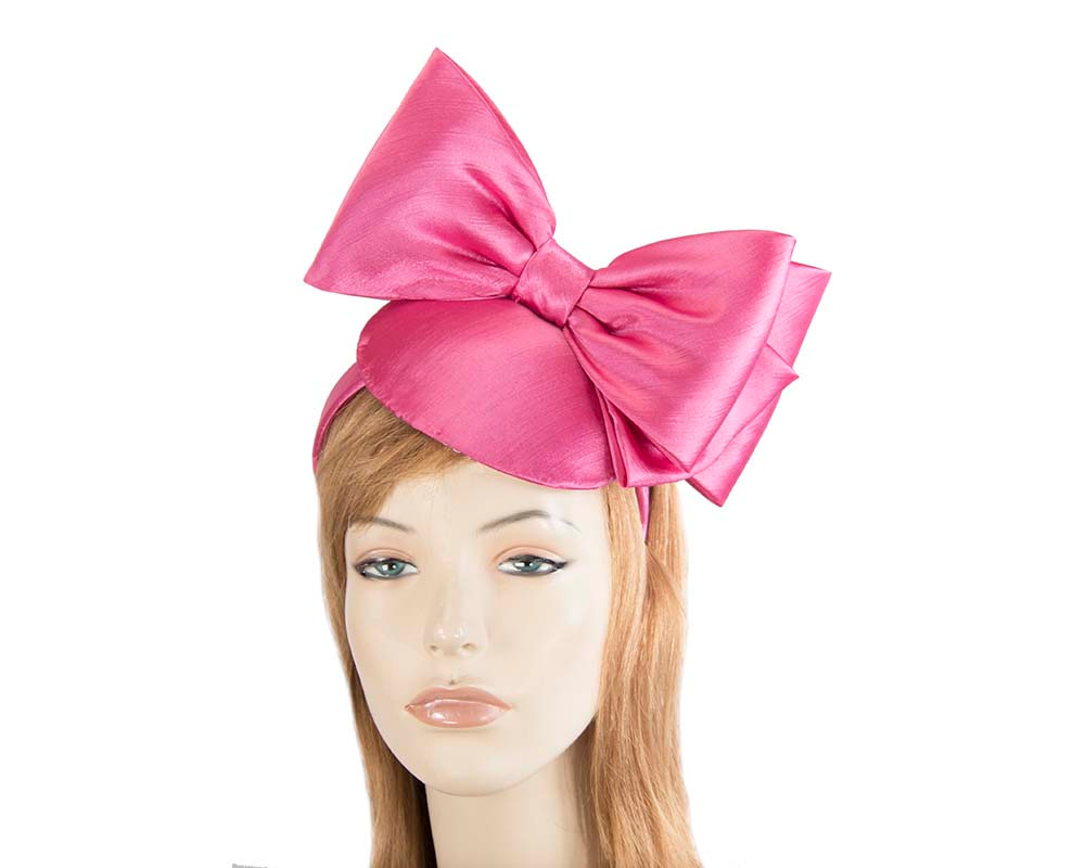 Fuchsia fascinator with big bow by Max Alexander