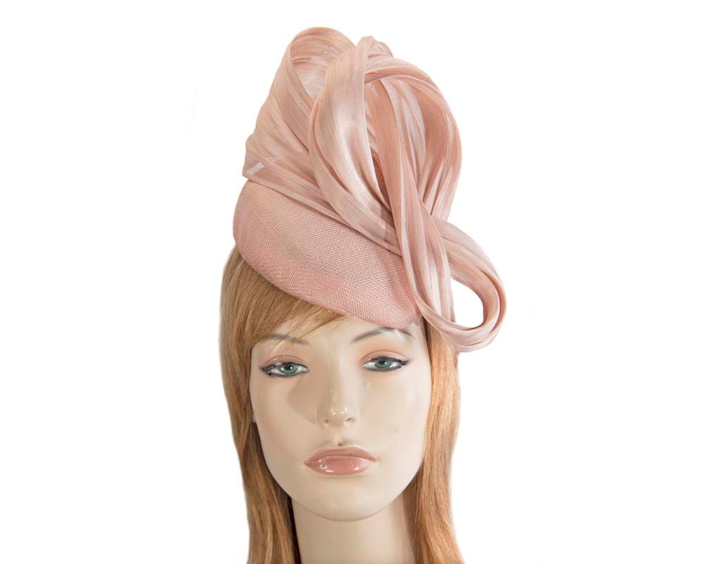 Pink pillbox fascinator with silk abaca bow by Fillies Collection