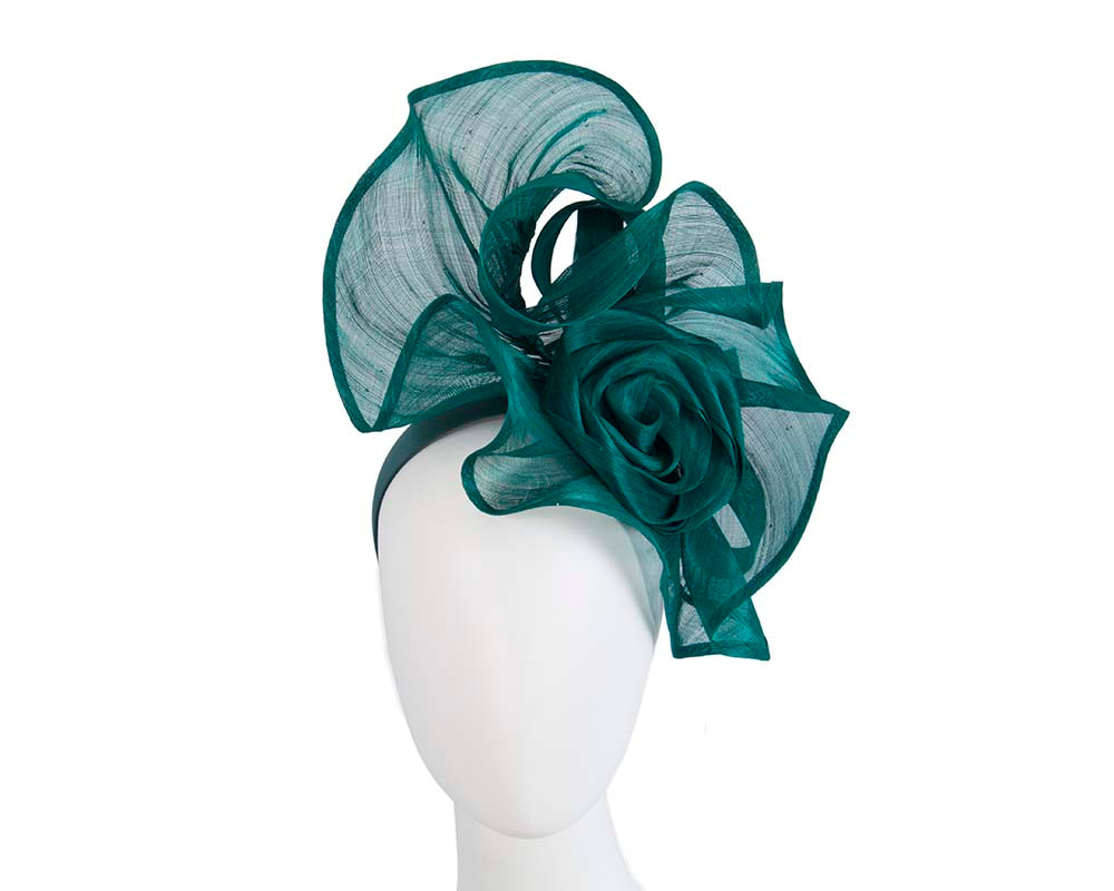 Twisted teal designers fascinator by Fillies Collection