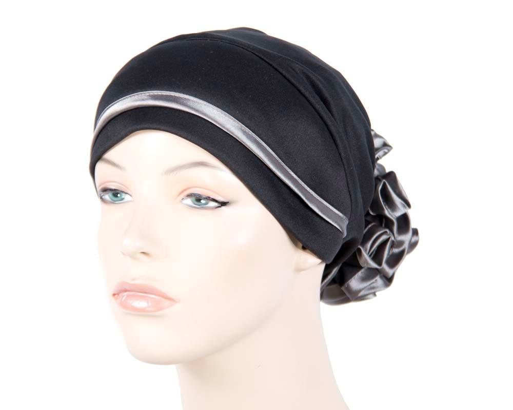 Black & silver turban muslim headscarf