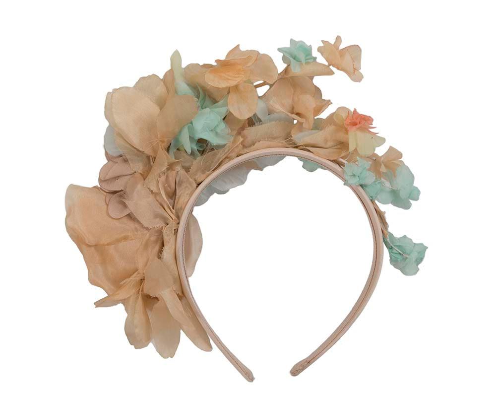 Exclusive silk flower headband fascinator