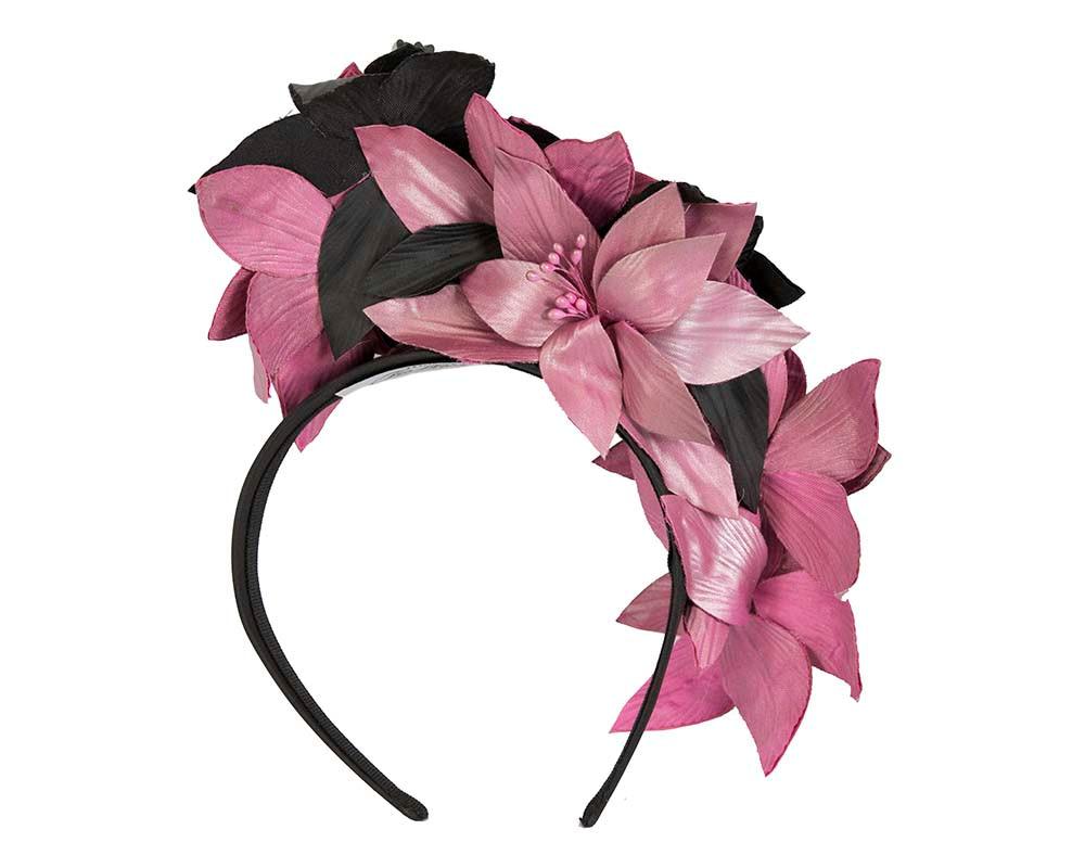 Exclusive tall flower crown fascinator