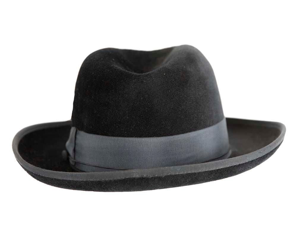 Black Jewish Hasidim rabbit fur fedora hat