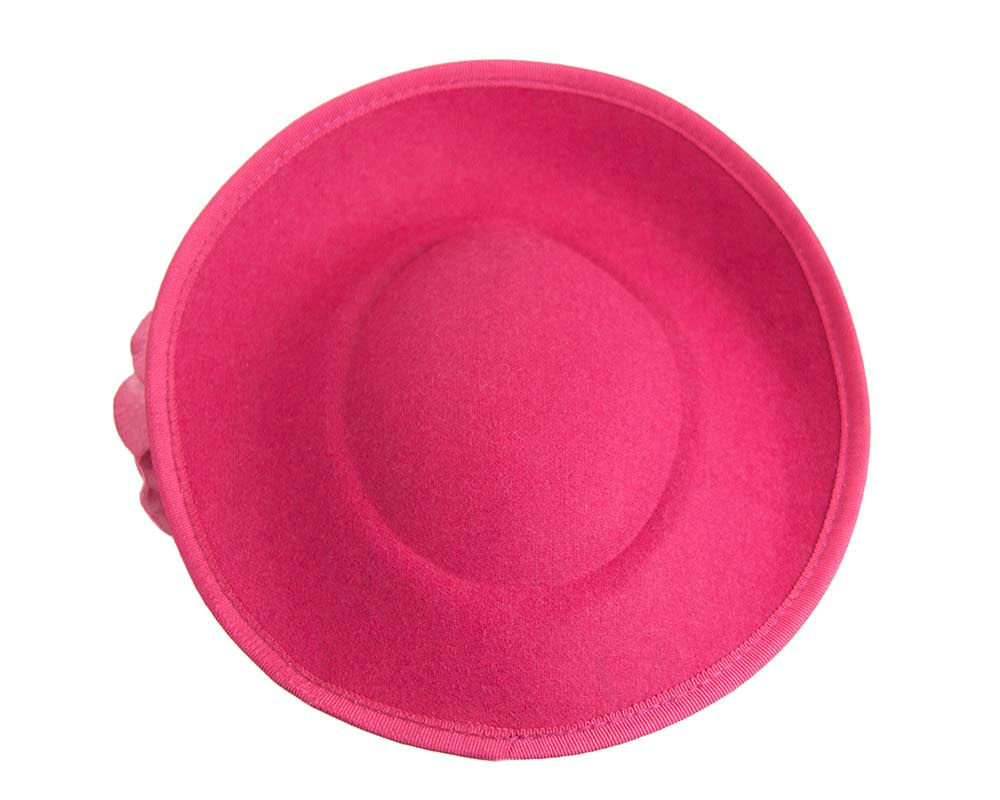 Large fuchsia plate with flowers winter racing fascinator