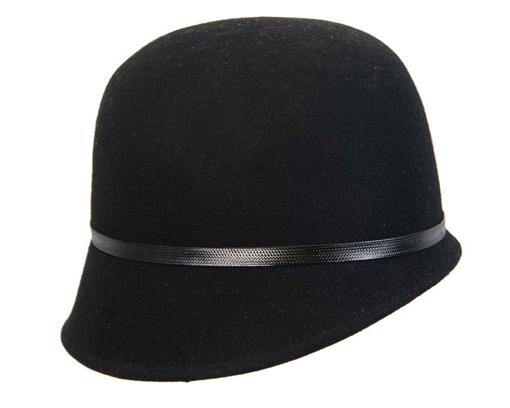 Black felt bucket hat by Max Alexander
