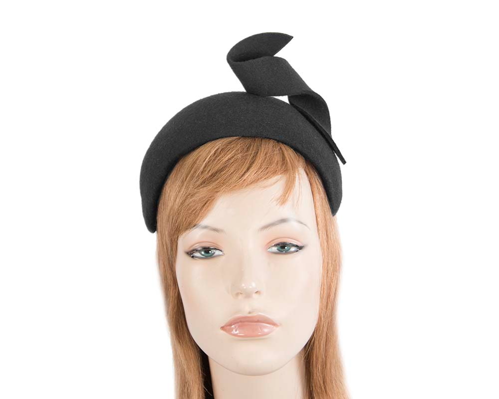 Wide black designers headband by Max Alexander