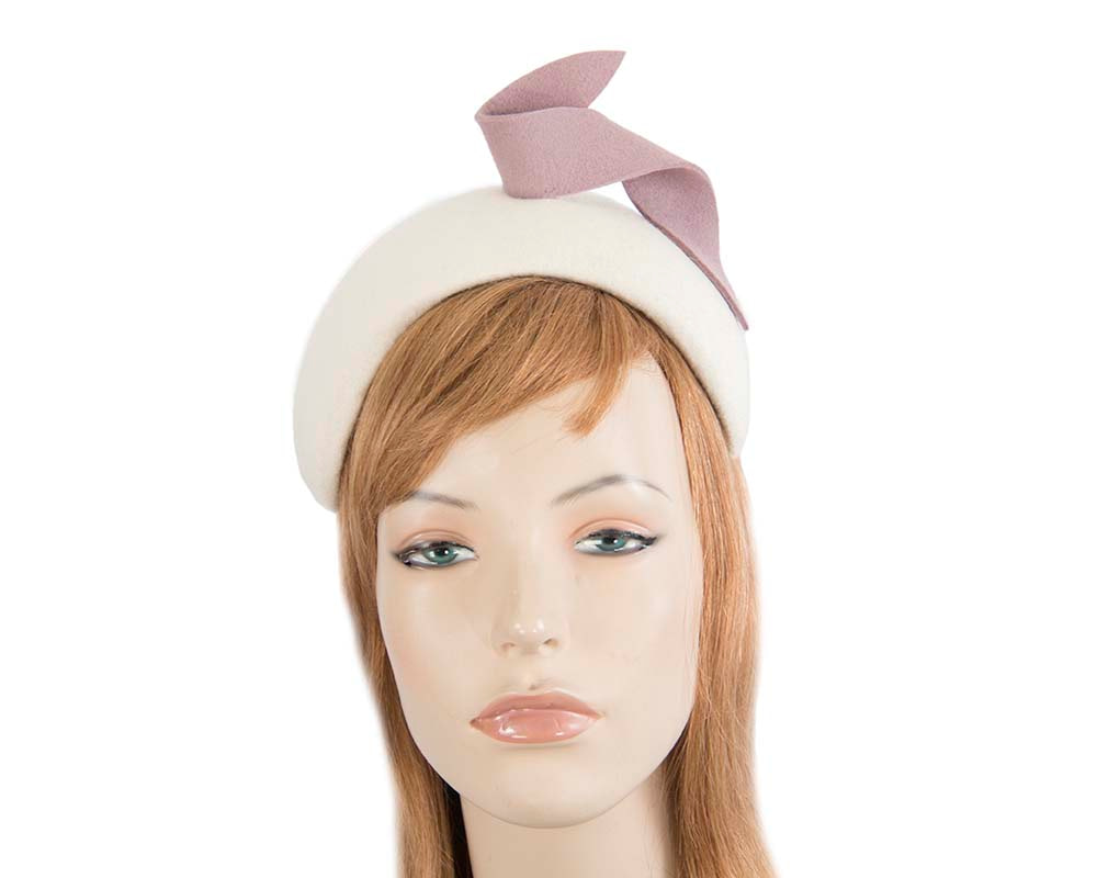Wide cream & pink designers headband by Max Alexander