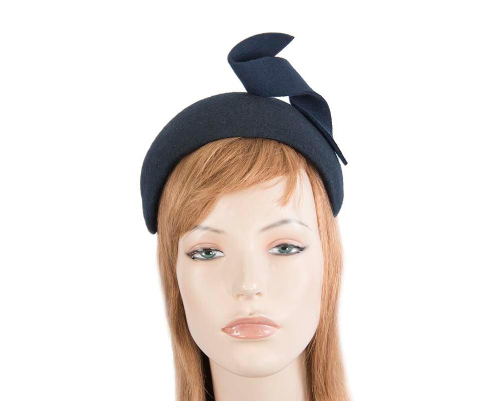 Wide navy designers headband by Max Alexander