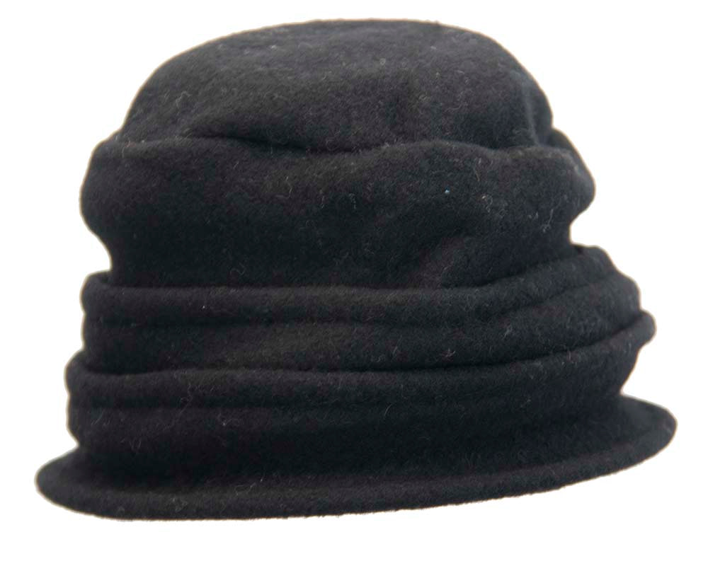 Warm black winter bucket hat by Max Alexander