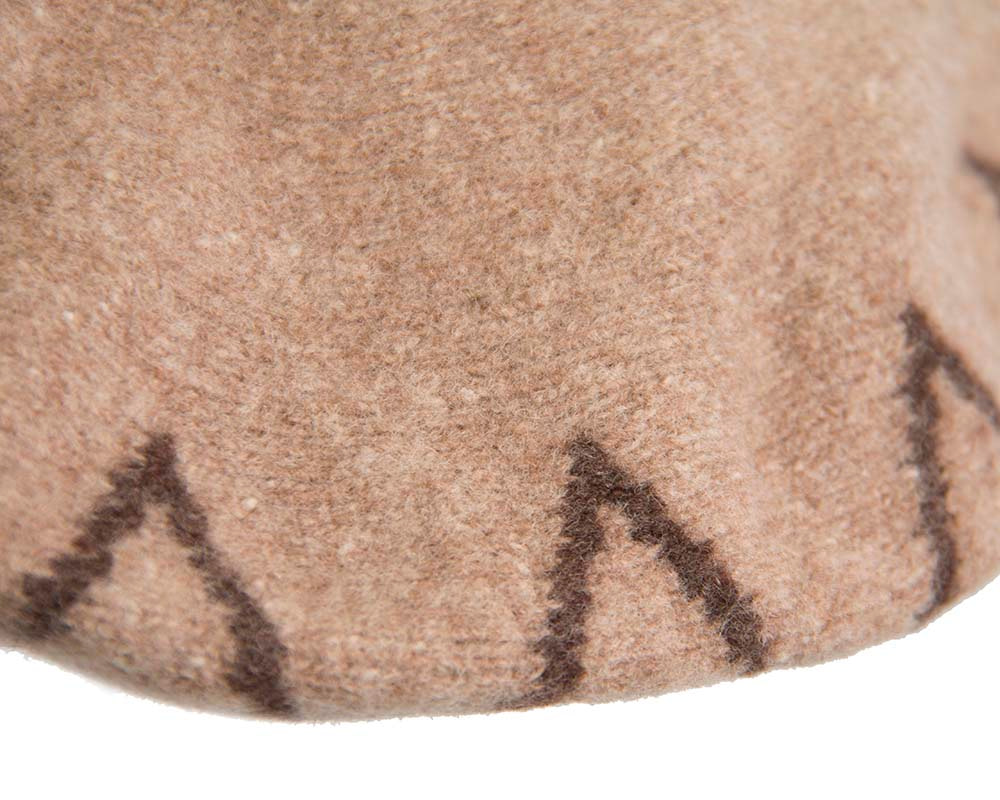 Mocca winter beret by Max Alexander