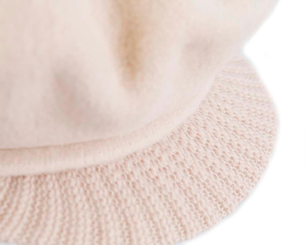 Warm nude winter newsboy cap by Max Alexander