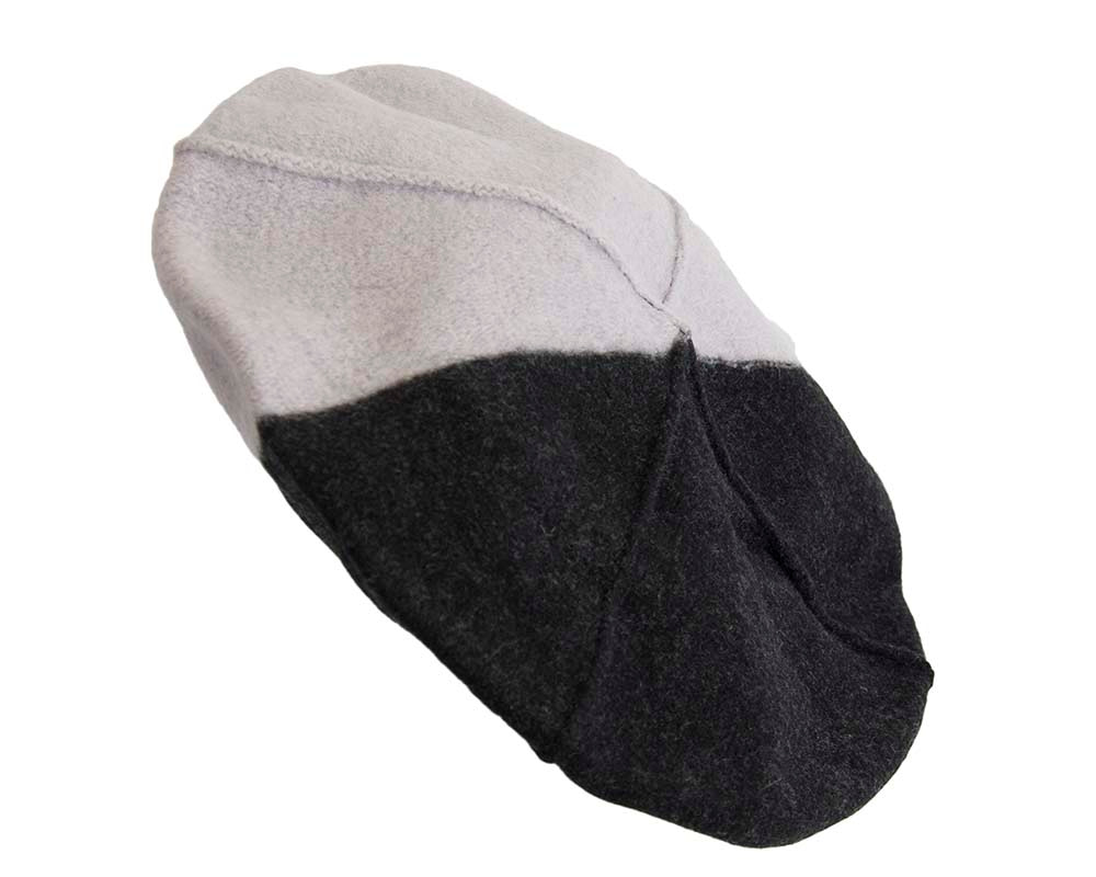 Grey & black winter french beret by Max Alexander