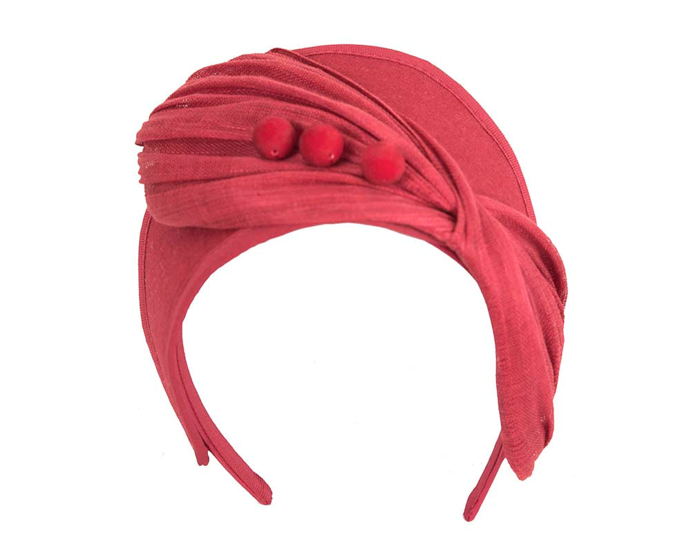 Red crown winter fascinator by Fillies Collection
