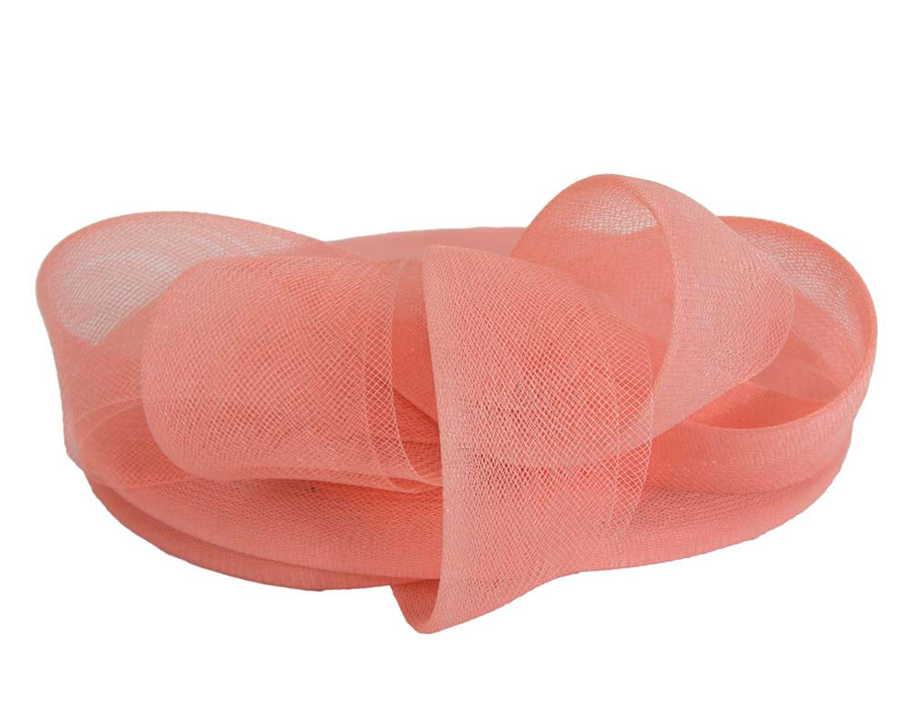 Coral Custom Made Cocktail Hat