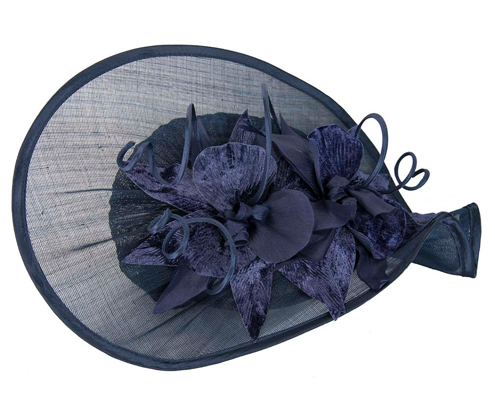Navy ladies fashion hat for Melbourne Cup Ascot Derby races buy online in Australia