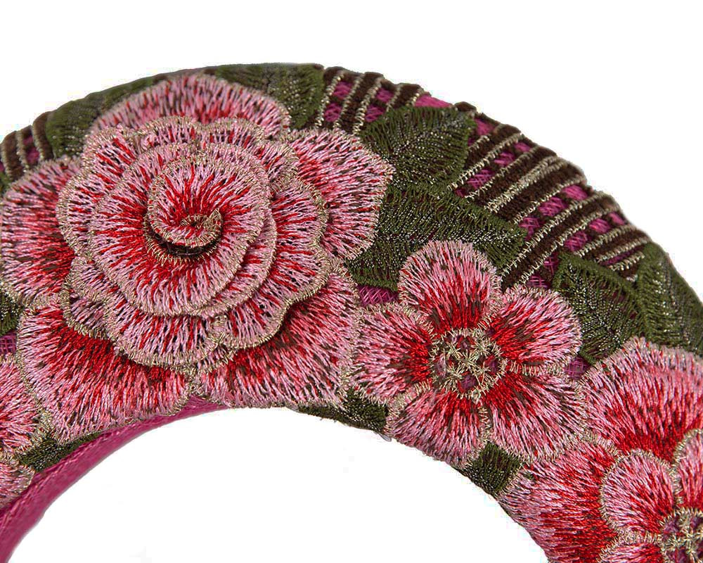 Exclusive fuchsia headband by Cupids Millinery